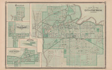 Fort Wayne Indiana Vintage Map Baskin 1876