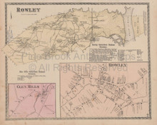 Rowley Massachusetts Vintage Map Beers 1872