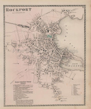 Rockport Massachusetts Vintage Map Beers 1872