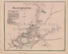 Manchester Massachusetts Vintage Map Beers 1872