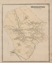 Middleton Massachusetts Vintage Map Beers 1872