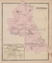 Lynnfield Massachusetts Vintage Map Beers 1872