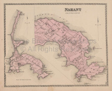 Nahant Massachusetts Vintage Map Beers 1872