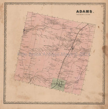 Adams New York Town Vintage Map Beers 1864