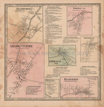 Ellisburgh Rodman New York Vintage Map Beers 1864