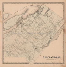 Alexandria Bay New York Vintage Map Beers 1864