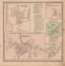 Redwood Omar New York Vintage Map Beers 1864