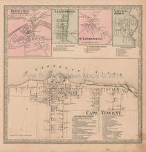 Depaulville St. Lawrence New York Vintage Map Beers 1864