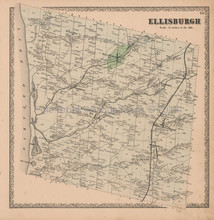 Ellisburgh New York Vintage Map Beers 1864