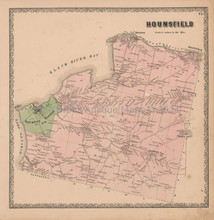 Hounsfield New York Vintage Map Beers 1864