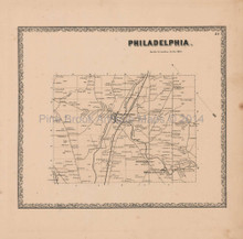Philadelphia New York Vintage Map Beers 1864