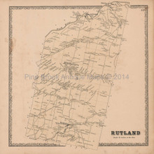 Rutland Felts Mills New York Vintage Map Beers 1864