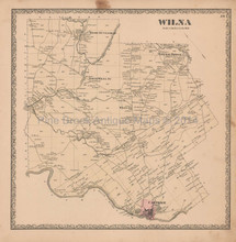 Wilna New York Vintage Map Beers 1864