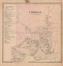 Carthage New York Vintage Map Beers 1864