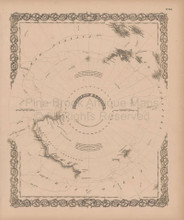 Southern Regions Vintage Map Colton 1856