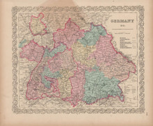 Germany No. 3 Vintage Map Colton 1856