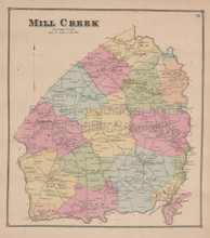 Mill Creek Delaware Antique Map Beers 1868