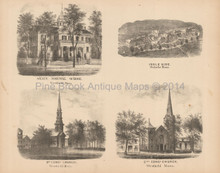 Ingle Side Holyoke State Normal School Westfield MA Antique Print Beers 1870