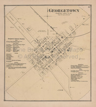 Georgetown Delaware Antique Map Beers 1868