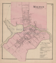 Milton Delaware Antique Map Beers 1868