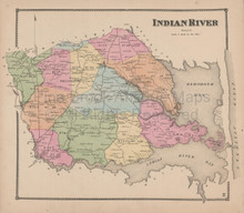 Indian River Delaware Antique Map Beers 1868
