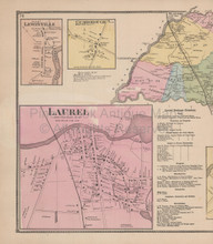 Laurel Delaware Antique Map Beers 1868