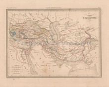 Empire of Alexander Antique Map Malte Brun 1850