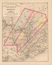 Sunbury Queens County NB Antique Map Roe 1878