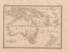 Australia Antique Map Malte Brun 1850