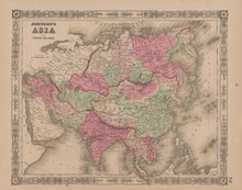 Asia Antique Map Johnson 1865