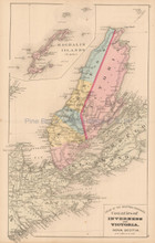 Inverness Victoria County NS Antique Map Roe 1878