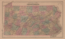 Pennsylvania Antique Map Gray 1876