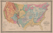 United States Geological Antique Map Gray 1876