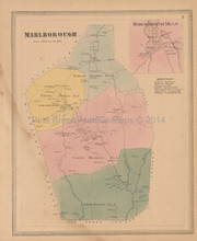 Marlborough Connecticut Antique Map Baker Tilden 1869
