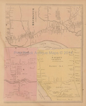 Hockanum Burnside Naubuc Connecticut Antique Map Baker Tilden 1869