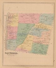 East Windsor Town Connecticut Antique Map Baker Tilden 1869