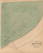 Hartford Connecticut Antique Map 6th Ward Baker Tilden 1869