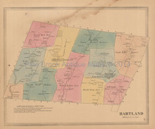 Hartland Connecticut Antique Map Baker Tilden 1869