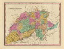 Switzerland Antique Map Finley 1833
