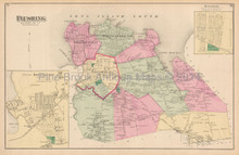 Flushing Hinsdale New York Antique Map Beers 1873