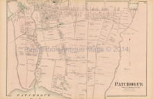 Patchogue New York Antique Map Beers 1873