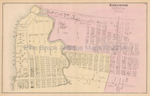 Ravenswood Corona New York Antique Map Beers 1873
