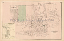 Woodhaven Freeport New York Antique Map Beers 1873