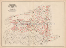 New York State Climate Antique Map Asher Adams 1870