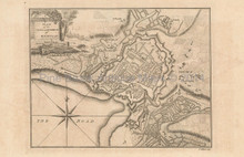 Rochelle France Antique Map Barrow 1756