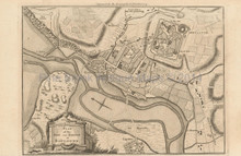 Boulogne France Antique Map Barrow 1756