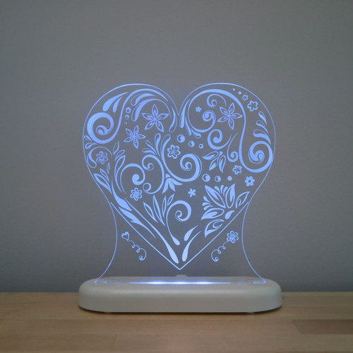 Aloka Night Light Heart Blue