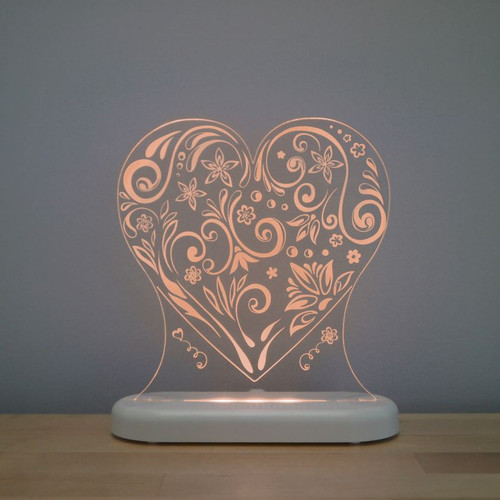 Aloka Night Light Heart Brown