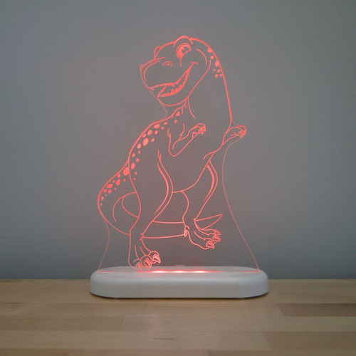 Aloka Night Light T Rex Dinosaur Red