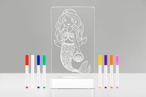 Aloka Colour Me Night Light Mermaid